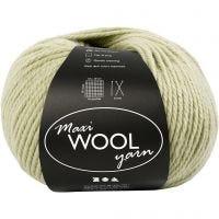 Wool yarn, L: 125 m, light green, 100 g/ 1 ball