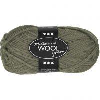 Melbourne Yarn, L: 92 m, dark green, 50 g/ 1 ball