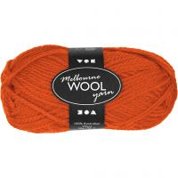 Melbourne Yarn, L: 92 m, orange, 50 g/ 1 ball