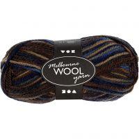 Melbourne Yarn, L: 92 m, brown harmony, 50 g/ 1 ball