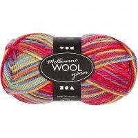 Melbourne Yarn, L: 92 m, multi colour, 50 g/ 1 ball