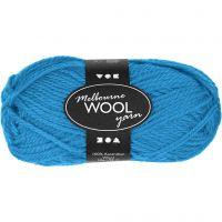 Melbourne Yarn, L: 92 m, light blue, 50 g/ 1 ball