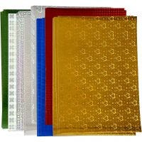 Holographic Paper, A4, 210x297 mm, 120 g, 80 ass sheets/ 1 pack