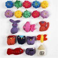 Mini Fabric Animals, size 20-35 mm, 40 pc/ 1 pack