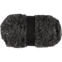 Carded Wool, natural grey, 100 g/ 1 bundle