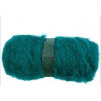 Carded Wool, green, 100 g/ 1 bundle