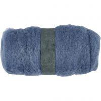 Carded Wool, sky blue, 100 g/ 1 bundle