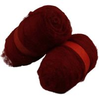Carded Wool, warm red, 2x100 g/ 1 pack