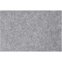 Craft Felt, 42x60 cm, thickness 3 mm, grey, 1 sheet