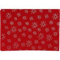 Craft Felt, A4, 210x297 mm, thickness 1 mm, red, 10 sheet/ 1 pack