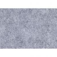 Craft Felt, A4, 210x297 mm, thickness 1,5-2 mm, textured, grey, 10 sheet/ 1 pack