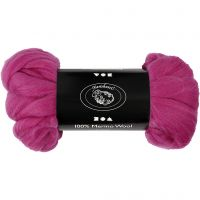 Wool, thickness 21 my, red violet, 100 g/ 1 pack