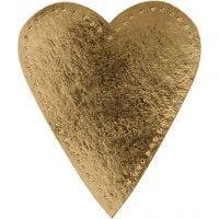 Heart, H: 12 cm, W: 10 cm, 350 g, gold, 4 pc/ 1 pack