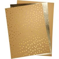 Faux Leather Paper, 21x27,5+21x28,5+21x29,5 cm, thickness 0,55 mm, one coloured,foil,printed, 3 sheet/ 1 pack
