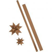 Star strips, L: 44+78 cm, W: 15+25 mm, 350 g, natural, 24 strips/ 1 pack