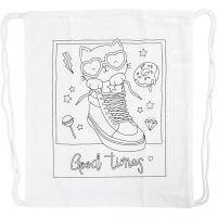 Gym bag, size 37x41  cm, 130 g, white, 1 pc