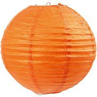 Rice paper lamp, D: 20 cm, orange, 1 pc