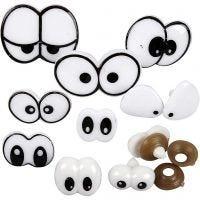 Funny Eyes, size 2-3 cm, 200 asstd./ 1 pack