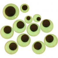 Googly Eyes, D: 8+10+14 mm, 30 asstd./ 1 pack