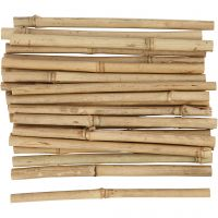 Bamboo stick, L: 20 cm, thickness 8-15 mm, 30 pc/ 1 pack