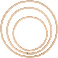 Bamboo ring, D: 15,3+20,3+25,5 cm, 3 pc/ 1 set