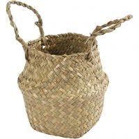 Seagrass basket, H: 7/15 cm, D: 16 cm, 1 pc