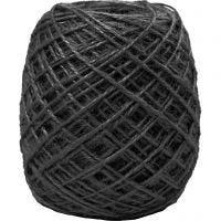 Natural Hemp, thickness 1-2 mm, black, 150 m/ 1 roll