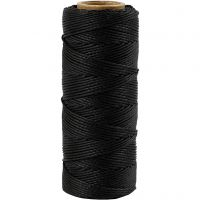 Bamboo Cord, thickness 1 mm, black, 65 m/ 1 roll
