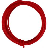 Jute wire, thickness 2-4 mm, red, 3 m/ 1 pack