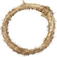 Straw Wreath, D: 21 cm, thickness 2 cm, 1 pc