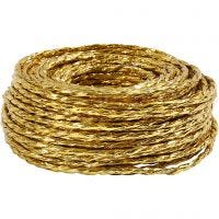 Paper Yarn, thickness 3,5-4 mm, gold, 25 m/ 1 roll