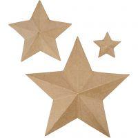 Stars, H: 11+19,5+31,5 cm, 3 pc/ 1 pack