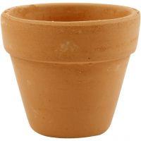 Flower Pots, H: 6,5 cm, D: 7 cm, 24 pc/ 1 box