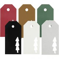 Manila Tags, christmas tree, size 5x10 cm, Content may vary , 300 g, 6x15 pc/ 1 pack