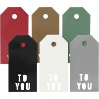 Manila Tags, TO YOU, size 5x10 cm, 300 g, 6x15 pc/ 1 pack