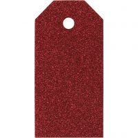 Manila Tags, size 5x10 cm, 300 g, red, 15 pc/ 1 pack