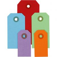 Manila Tags, size 3x6+4x8+5x10 cm, 220 g, assorted colours, 500 pc/ 1 pack