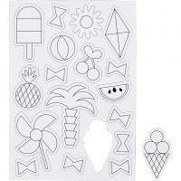 Magnets, Summer, size 14,85x21 cm, 1 sheet