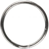 Key Chain, D: 15 mm, 10 pc/ 1 pack
