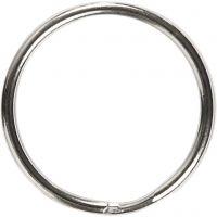 Key Chain, D: 25 mm, 8 pc/ 1 pack