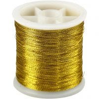 Sewing Thread, thickness 0,15 mm, gold, 100 m/ 1 roll