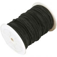 Faux suede cord, thickness 3 mm, black, 100 m/ 1 roll