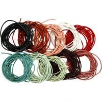 Leather Cord, thickness 2 mm, assorted colours, 10x3 m/ 1 pack