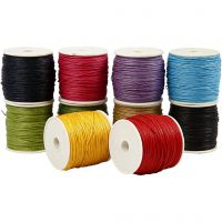 Cotton Cord, thickness 1 mm, bold colours, 10x50 m/ 1 pack