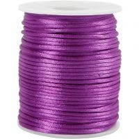 Satin Cord, thickness 2 mm, purple, 50 m/ 1 roll