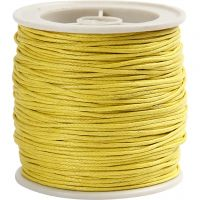 Cotton Cord, thickness 1 mm, yellow, 40 m/ 1 roll