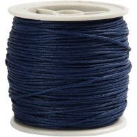 Cotton Cord, thickness 1 mm, blue, 40 m/ 1 roll