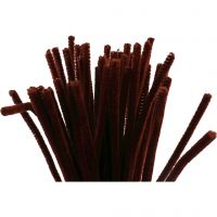 Pipe Cleaners, L: 30 cm, thickness 6 mm, antique red, 50 pc/ 1 pack
