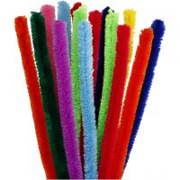 Pipe Cleaners, L: 30 cm, thickness 15 mm, assorted colours, 15 asstd./ 1 pack