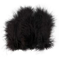 Feathers, size 5-12 cm, black, 15 pc/ 1 pack
